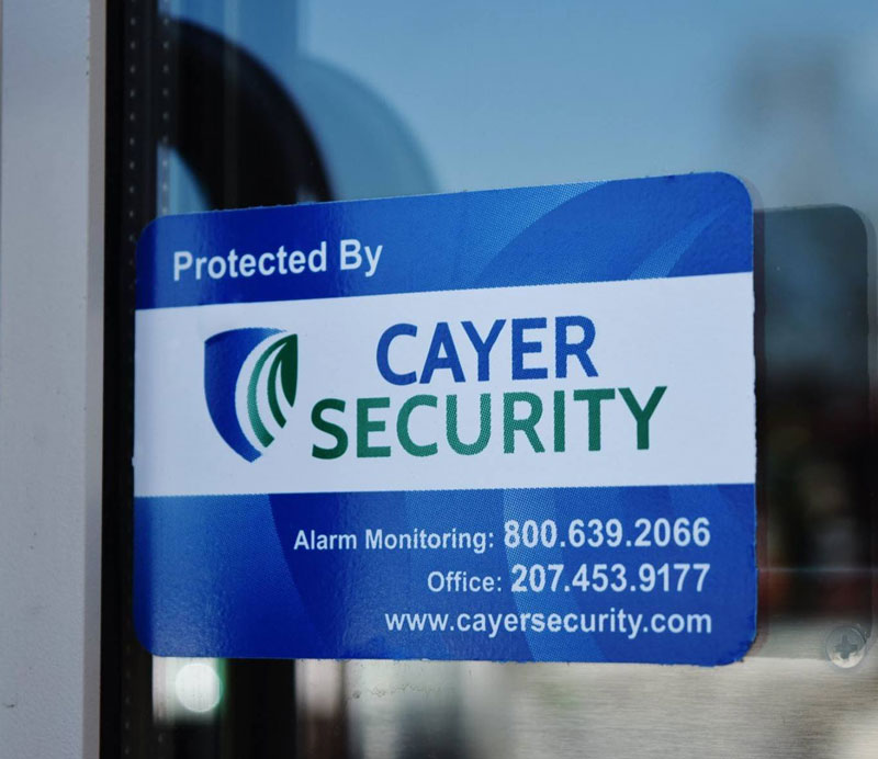 Cayer Security Protection Sticker